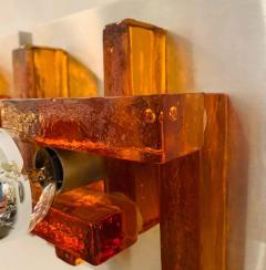 Poliarte Pair of Poliarte Italian Murano Glass 1960s Wall Lights - 1626049