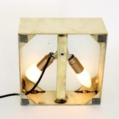 Poliarte Poliarte Italian Cast Clear Glass and Brass Table Lamp Designed by Albano Poli - 1344499