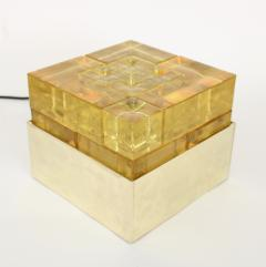 Poliarte Poliarte Italian Cast Gold Glass and Brass Table Lamp Designed by Albano Poli - 1344559