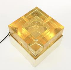 Poliarte Poliarte Italian Cast Gold Glass and Brass Table Lamp Designed by Albano Poli - 1344561