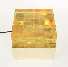 Poliarte Poliarte Italian Cast Gold Glass and Brass Table Lamp Designed by Albano Poli - 1344569