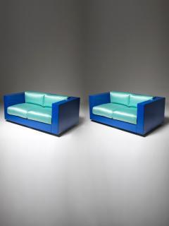 Poltronova Pair of Saratoga Settee by Massimo Vignelli for Poltronova - 1143080