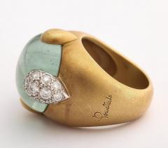Pomellato Vintage Pomellato Gold Aquamarine and Diamond Ring - 575827