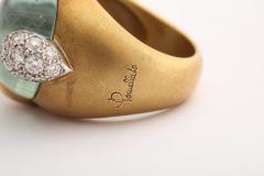 Pomellato Vintage Pomellato Gold Aquamarine and Diamond Ring - 575828