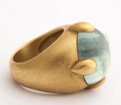 Pomellato Vintage Pomellato Gold Aquamarine and Diamond Ring - 575829