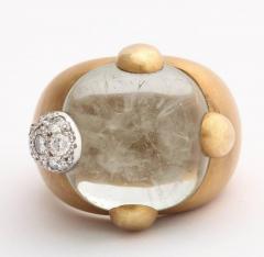 Pomellato Vintage Pomellato Gold Aquamarine and Diamond Ring - 575830