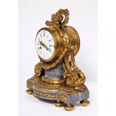 Popon A Paris A French Ormolu Mounted Bleu Turquin Marble Clock Japy Freres circa 1880 - 1110937