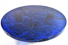 Portuondo Editions Blue fractal resin table - 1531715