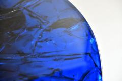 Portuondo Editions Blue fractal resin table - 1531716