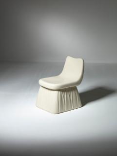 Pozzi Ginori Vitreous China Chair by Giovanni Gariboldi for San Cristoforo Ginori - 1514367