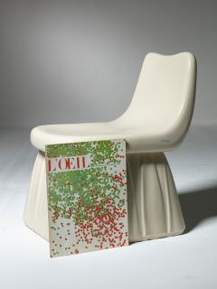 Pozzi Ginori Vitreous China Chair by Giovanni Gariboldi for San Cristoforo Ginori - 1514370