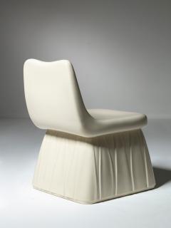 Pozzi Ginori Vitreous China Chair by Giovanni Gariboldi for San Cristoforo Ginori - 1514371