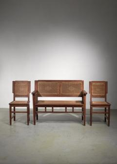Prag Rudniker Prag Rudniker Secession Jugendstil set of bench and side chairs - 1471145