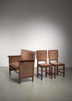 Prag Rudniker Prag Rudniker Secession Jugendstil set of bench and side chairs - 1471149