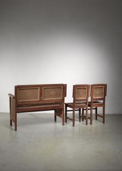 Prag Rudniker Prag Rudniker Secession Jugendstil set of bench and side chairs - 1471150