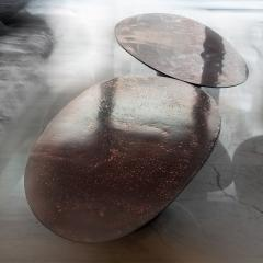 Privatiselectionem Hand sculpted liquid copper resin low coffee table - 1396565