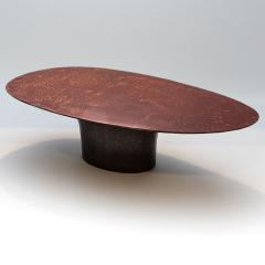 Privatiselectionem Hand sculpted liquid copper resin low coffee table - 1396569