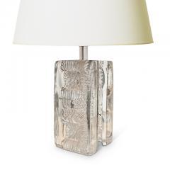 Pukeberg Brutalist Table Lamp in Glass by Pukeberg - 2131256