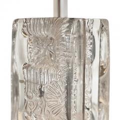 Pukeberg Brutalist Table Lamp in Glass by Pukeberg - 2131257