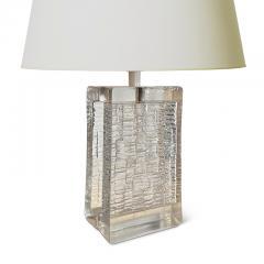 Pukeberg Brutalist table lamp in glass by Pukeberg - 2128762