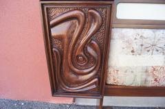 Pulaski Furniture Corporation Lacquered Walnut Oceanic Series King Headboard by Pulaski Furniture - 2124365