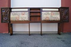 Pulaski Furniture Corporation Lacquered Walnut Oceanic Series King Headboard by Pulaski Furniture - 2124367