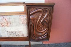 Pulaski Furniture Corporation Lacquered Walnut Oceanic Series King Headboard by Pulaski Furniture - 2124369