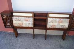 Pulaski Furniture Corporation Lacquered Walnut Oceanic Series King Headboard by Pulaski Furniture - 2124372