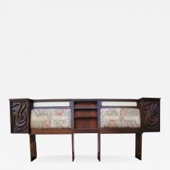 Pulaski Furniture Corporation Lacquered Walnut Oceanic Series King Headboard by Pulaski Furniture - 2144826