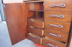 Pulaski Furniture Corporation Lacquered Walnut Oceanic Series Tall Dresser by Pulaski Furniture - 2037688
