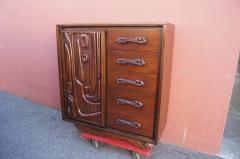 Pulaski Furniture Corporation Lacquered Walnut Oceanic Series Tall Dresser by Pulaski Furniture - 2037690