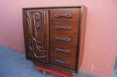 Pulaski Furniture Corporation Lacquered Walnut Oceanic Series Tall Dresser by Pulaski Furniture - 2037691