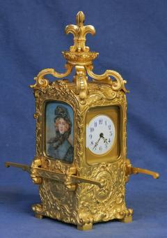 R Co Paris c 1895 French Sedan Carriage Clock with Miniature Portraits - 1146976
