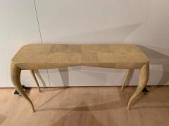 R Y Augousti French Modern Shagreen Console Table by R Y Augousti Paris - 1958716