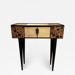 R Y Augousti R Y Augousti Black and Ivory Shagreen and Bamboo Console - 770577
