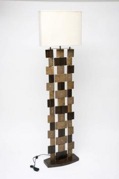R Y Augousti R Y Augousti Floor Lamp Shagreen Alligator Lizard and Mahogany Wood - 586617