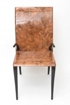 R Y Augousti Rare R Y Augousti Coconut Tobacco and Ebony Armchair or Deskchair - 422470
