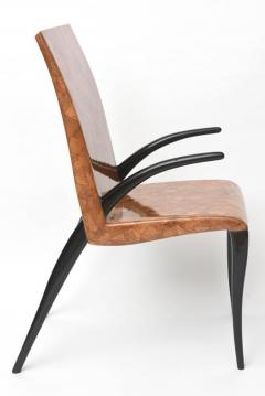R Y Augousti Rare R Y Augousti Coconut Tobacco and Ebony Armchair or Deskchair - 422473
