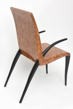 R Y Augousti Rare R Y Augousti Coconut Tobacco and Ebony Armchair or Deskchair - 422476