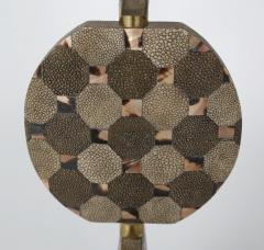 R Y Augousti Sculptural French Table Lamp in Shagreen and Horn by R Y Augousti c 1980s - 521322