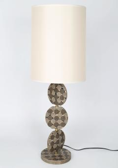R Y Augousti Sculptural French Table Lamp in Shagreen and Horn by R Y Augousti c 1980s - 521324