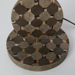 R Y Augousti Sculptural Table Lamp in Shagreen and Horn with Brass Fittings 1980s - 1965581