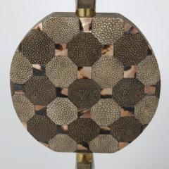 R Y Augousti Sculptural Table Lamp in Shagreen and Horn with Brass Fittings 1980s - 1965582