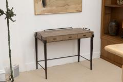 R Y Augousti Shagreen Desk with Patinated Bronze Base - 392562