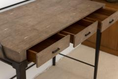 R Y Augousti Shagreen Desk with Patinated Bronze Base - 392566