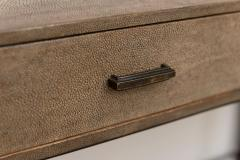 R Y Augousti Shagreen Desk with Patinated Bronze Base - 392567