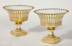 R rstrand Pair of Swedish Porcelain Corbeille Vases - 1785772