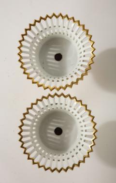 R rstrand Pair of Swedish Porcelain Corbeille Vases - 1785780