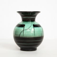R rstrand Scandinavian Art Deco Glazed Ceramic Vase by Ilse Claesson for R rstrand - 1866349