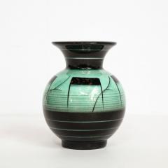 R rstrand Scandinavian Art Deco Glazed Ceramic Vase by Ilse Claesson for R rstrand - 1866361